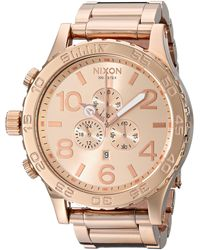 Nixon Sentry 38 Leather A377595-00. Gunmetal And Gold 's Watch - Metallic