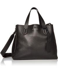 Emporio Armani Designer Slouchy Leather Tote - Black