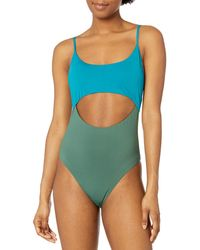 BCBGeneration Standard Cutout Over The Shoulder One Piece Swimsuit - Multicolor