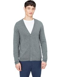 FIND Cotton Button Down Cardigan Sweater - Gray