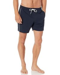 Theory Simulate New Swim Short With Pipe Detail - Blue