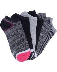 Tretorn 6-pack No Show Socks - Gray