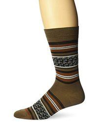 Bruno Magli - Striped Paisley Socks - Lyst