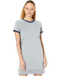 Core 10 Plus Size Soft Cotton Modal Relaxed Fit Short Sleeve Sweatshirt Dress - Gray