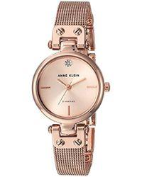 Anne Klein - Diamond-accented Bracelet Watch - Lyst