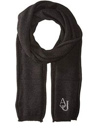 Armani Jeans - Knit Scarf With Logo - Lyst