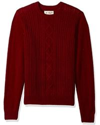 Original Penguin - Fisherman's Cable Crew Sweater - Lyst