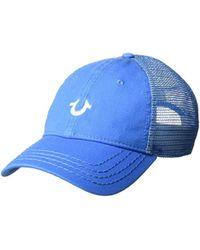 True Religion - Core Logo Trucker Cap - Lyst
