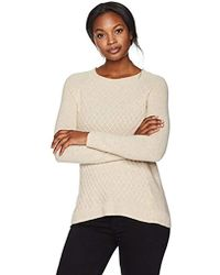 Lark & Ro - 100% Cashmere Soft Lattice Stitch Sweater - Lyst