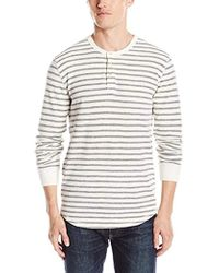 Lucky Brand - Lived-in Stripe Henley Shirt - Lyst