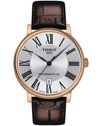 Tissot Mens Carson Auto Stainless Steel Dress Watch Brown T1224073603300