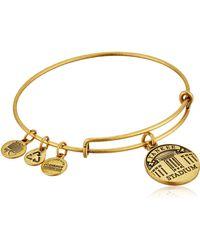 ALEX AND ANI Yankee Stadium Expandable Rafaelian Gold Bangle Bracelet - Metallic