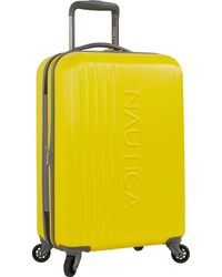 Nautica 3 Piece Hardside 4-wheeled Spinner Luggage Set - Yellow
