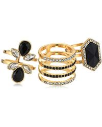 Guess - S 3 Piece Cocktail Ring Set - Lyst