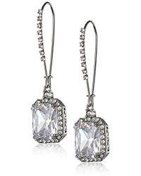 Betsey Johnson Large Gold Textured Bow Drop Earrings - Metallic
