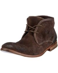 H by Hudson Cruise Suede Chukka Boot - Brown