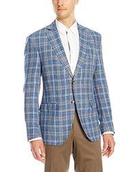 Franklin Tailored - Summer Delave Linen Windowpane Newton Sportcoat - Lyst