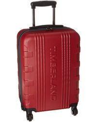 "Timberland 21"" Hardside Spinner Carry On Suitcase - Red"