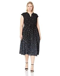 Anne Klein - Cap Sleeve Drawstring Midi Dress - Lyst