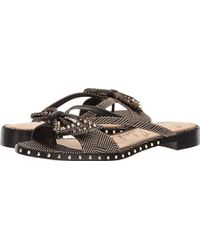 d0c66e2bc178 Lyst - Sam Edelman Glenna Leather Embellished Sandals in Green