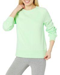 Amazon Essentials Coupe Classique à ches Longues et col Ras-du-Cou Fashion-Sweatshirts - Vert