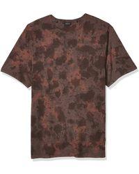 Buffalo David Bitton Short Sleeve Crew Neck T-shirt - Brown