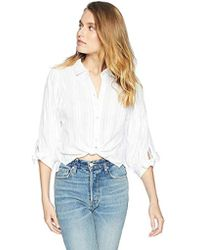 BCBGeneration 80s Sleeve Oversized Button Down - White