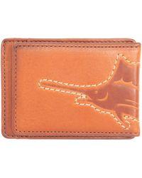 Tommy Bahama 100% Leather Slim Card Case Carrier Wallet - Orange