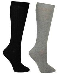Betsey Johnson Lurex Slouchy Boot Sock Bj42024 - Black
