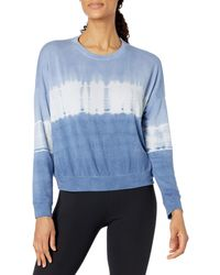 Core 10 Soft Cotton French Terry Crew-neck Long-sleeve - Blue