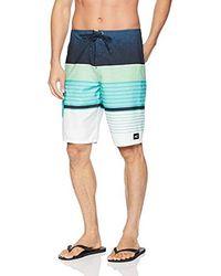 O'neill Sportswear - 21 Inch Outseam Ultrasuede Swim Boardshort, Turquoise Plaid, 30 - Lyst