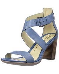 Ecco Shape 65 Block Heel Dress Sandal - Blue