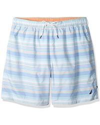 Nautica - Big And Tall Quick Dry Striped Swim Trunk - Lyst
