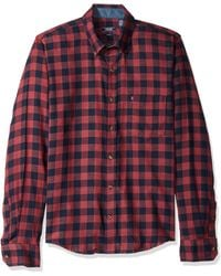 Izod Fit Stratton Long Sleeve Button Down Check Flannel Shirt - Multicolor