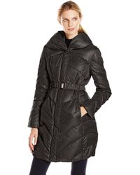 T Tahari - Maria Down Coat With Belt - Lyst