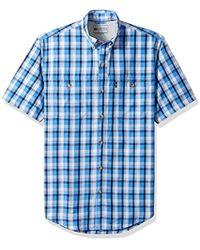 G.H.BASS - Explorer Short Sleeve Fishing Shirt Plaid Button Pocket - Lyst