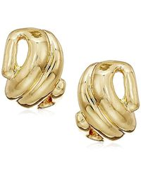 Napier - Gold-tone Swirl Button Post Stud Earrings - Lyst