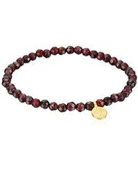"""Satya Jewelry - """"classics"""" Smokey Topaz Tree Of Life Stretch Bracelet - Lyst"""