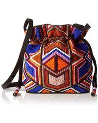 MILLY - Beaded Sm Drawstring Cross Body Bag - Lyst