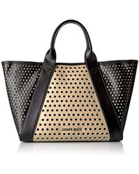 Armani Jeans - Perforated Tote - Lyst