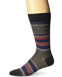 Bruno Magli - Triple Striped Socks - Lyst