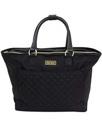 """Kensie - Laptop And Tablet And Ipad 14"""" Fashion Tote, Black With Gold Color Option - Lyst"""
