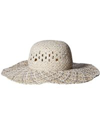 2a0bd4d60a7 Lyst - Bcbgeneration Feather Weave Floppy Hat in Natural