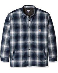 f39c6f6669 Carhartt - Big   Tall Hubbard Flannel Plaid Sherpa Lined Shirt Jac - Lyst