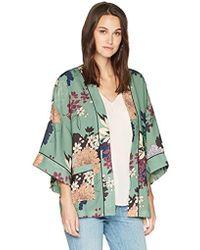 Ella Moon - Lorna Kimono Jacket With Piping Detail - Lyst