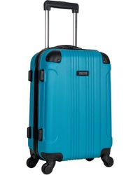 Kenneth Cole Reaction Out Of Bounds 20-inch Carry-on Lightweight Durable Hardshell 4-wheel Spinner Cabin Size Luggage - Blue