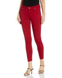 Tommy Hilfiger Madison Skinny Ankle Pant - Red