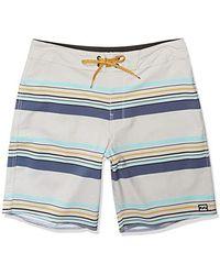 Billabong Sundays Stripe Pro Boardshorts - Blue
