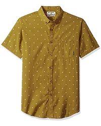 Billabong All Day Jacquard Short Sleeve Shirt - Green