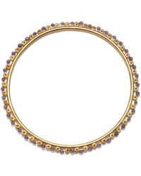 Satya Jewelry Amethyst Gold Wrapped Bangle Bracelet - Purple